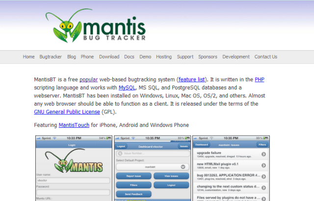 mantis-bug-tracking-system