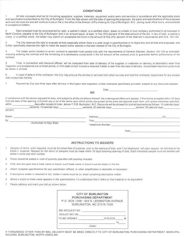 Sample Purchasing Forms UNC School of Government