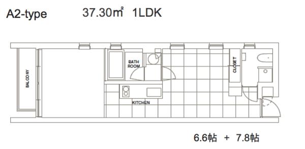コートモデリア六本木401号室図面 SOHO東京