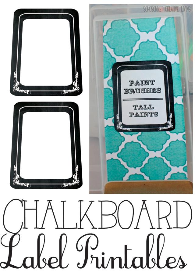 Free Printable Chalkboard Labels {Binders and Storage Organization