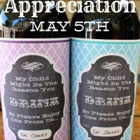 Teacher Appreciation Gift  - Wine Label Free Printable