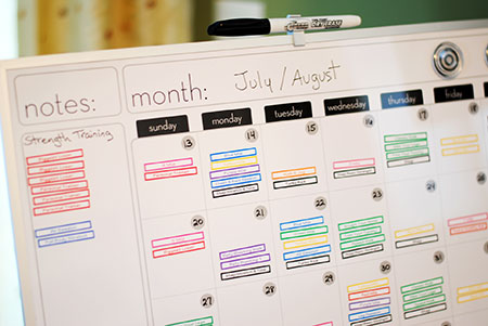 My Road to Getting Fit The Workout Calendar