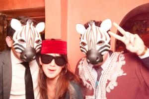 les zebres devant le photobooth la phototour