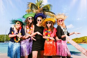 photocall thème hawaï accessoires