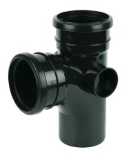 FloPlast 110mm PVC Soil Pipes - Black 110mm Soil Pipe and ...