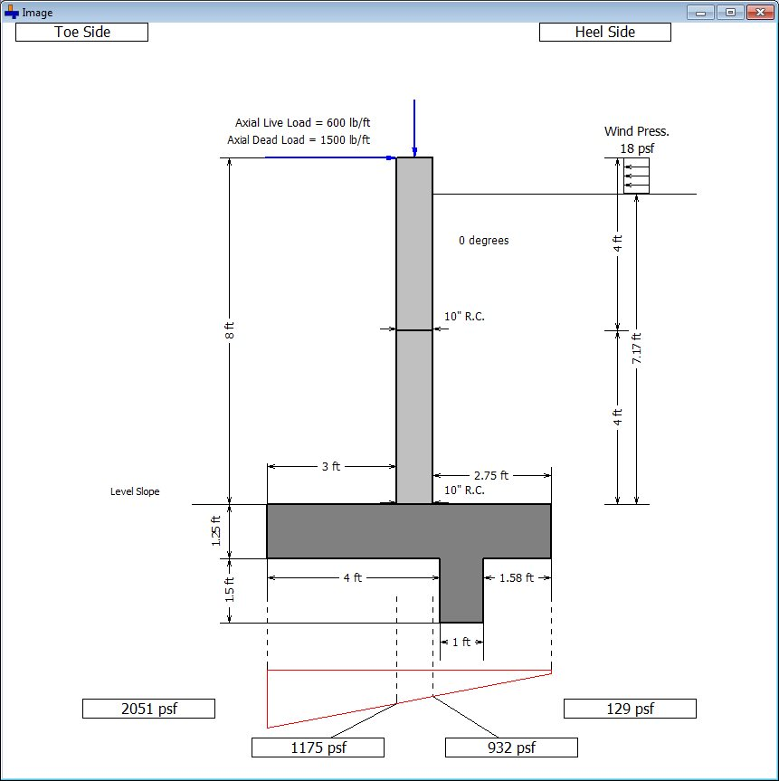 Cantilever and Restrained Retaining Wall Design Software - Design Of Retaining Walls Examples