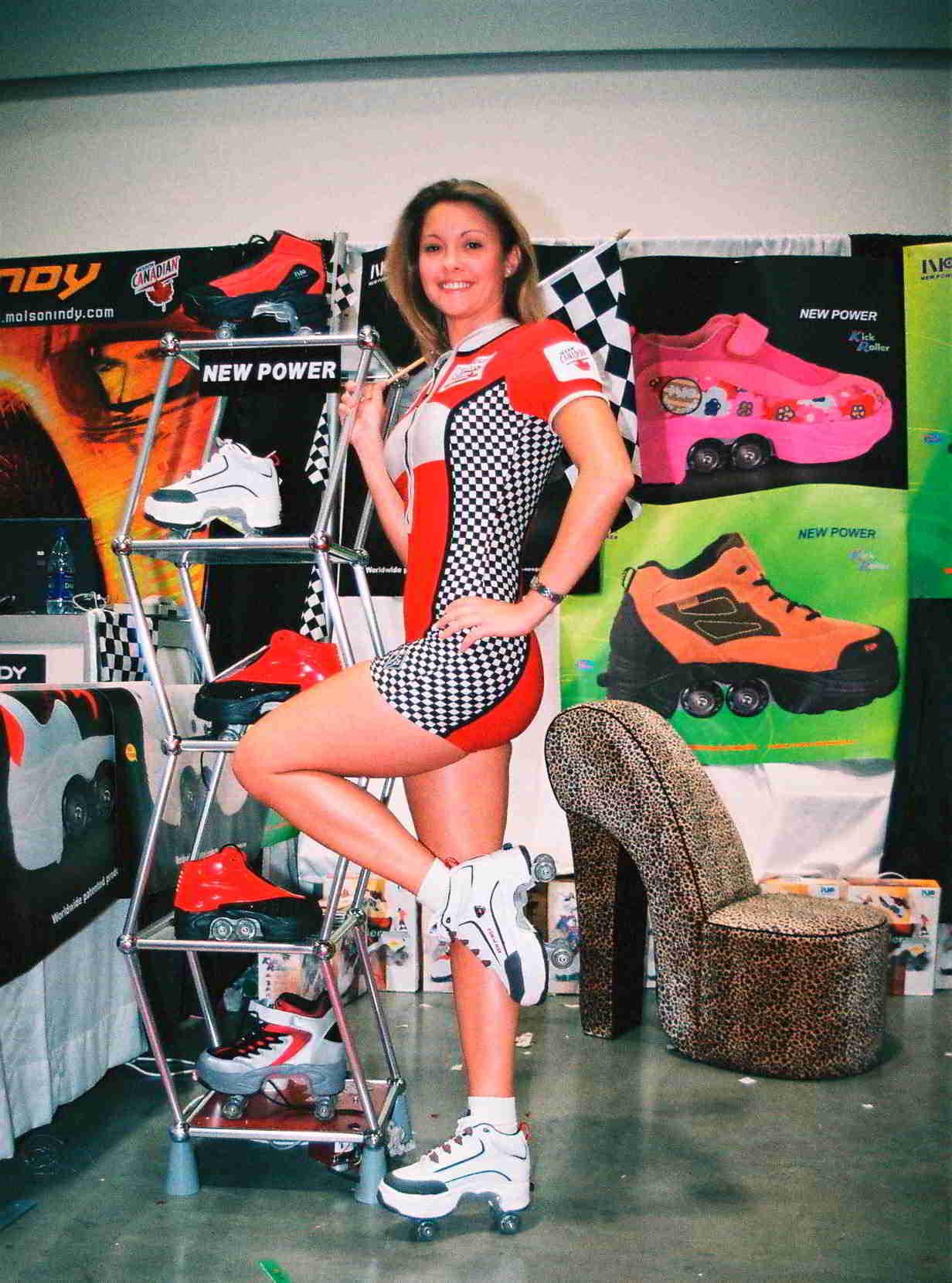 Kick roller at trade show