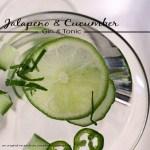 jalapeno cucumber gin & tonic