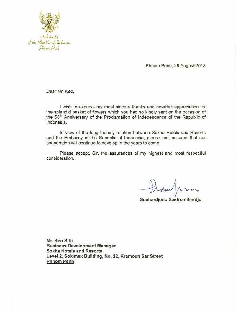 appreciation letters to