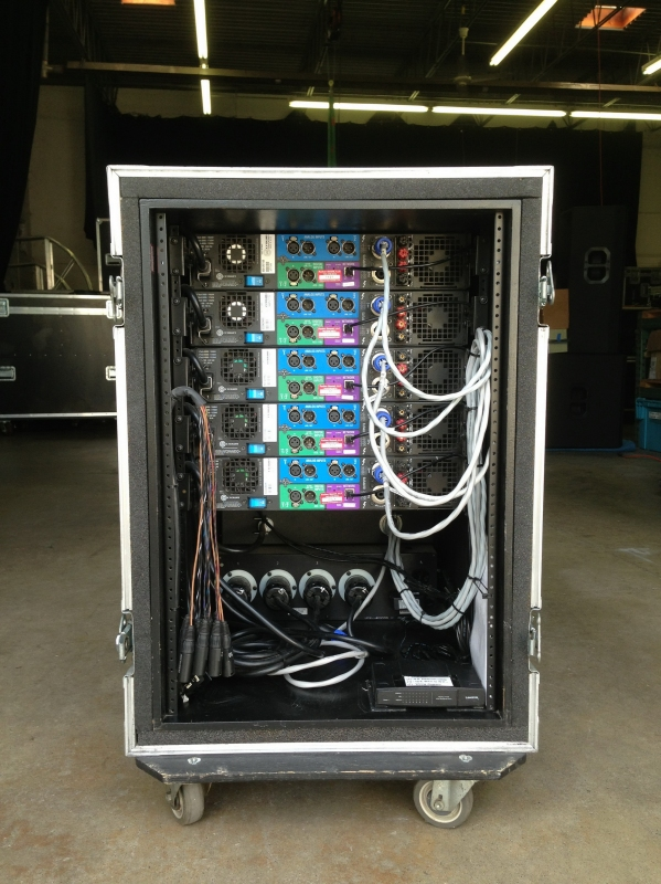 For Home Entertainment System Wiring Diagram Used Custom Amp Rack By Crown Item 33996