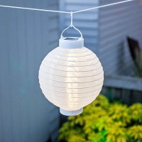 Solar-Lampion LED China-Laterne 25 cm Warmweiss und ...