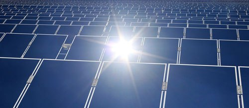 Thin Film Solar Panels in a solar farm