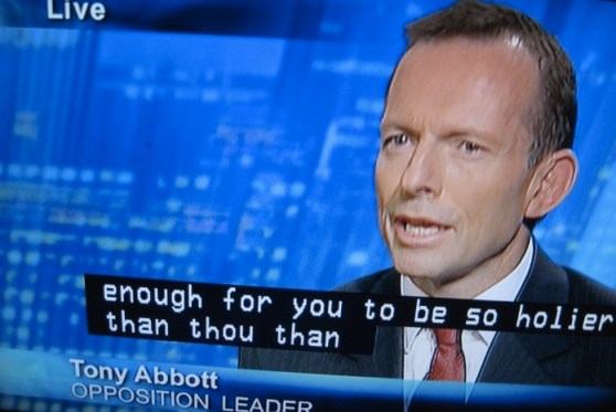 Tony Abbott on telly