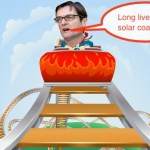 Greg 'kneejerk' Combet seems to enjoy the solar coaster