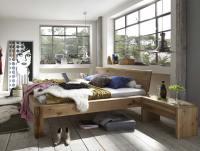 M&H Massivholz Bett Baumkante