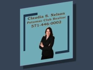 Potomac Club Realtor, Claudia S Nelson 571-446-0002