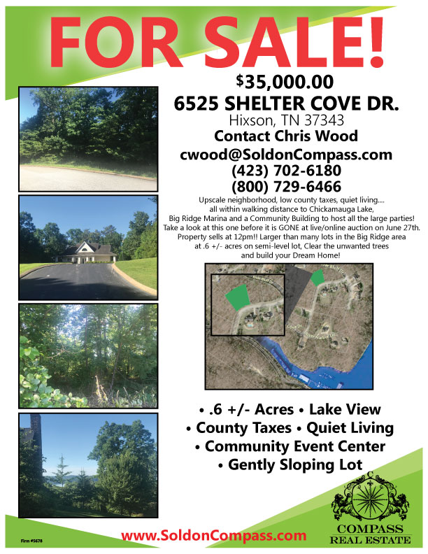 lettersize-flyer-6525SHELTERCOVE-JUNE29-2018-sale - Compass Auctions - land for sale flyer