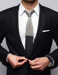 Two Tone Knit Tie & Tuxedo   SOLETOPIA