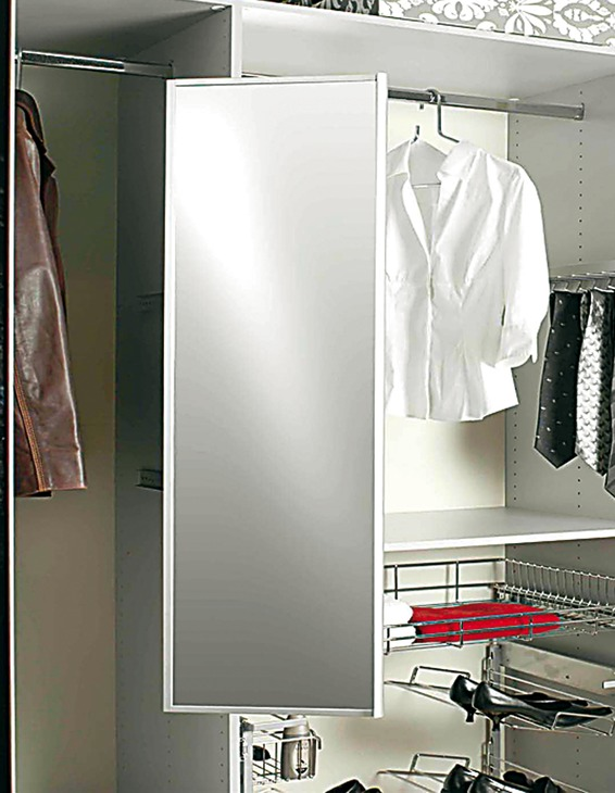 wardrobe pull out pivoting mirror