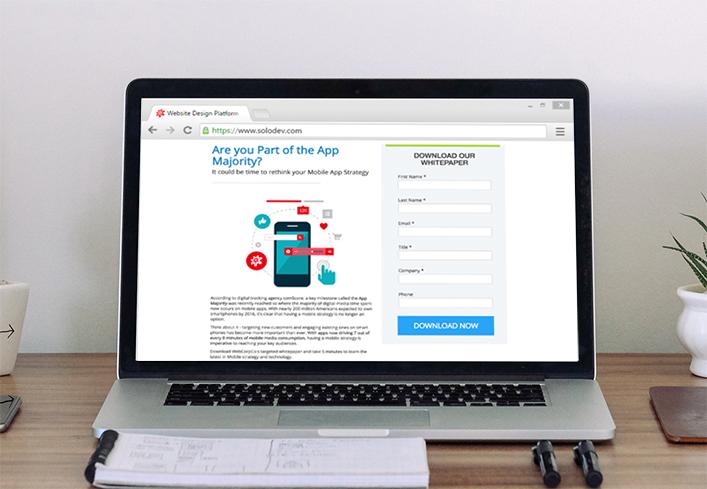 Designing a Responsive Landing Page Solodev