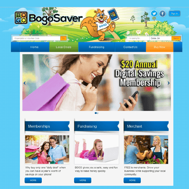 Bogo Saver Logo & Website