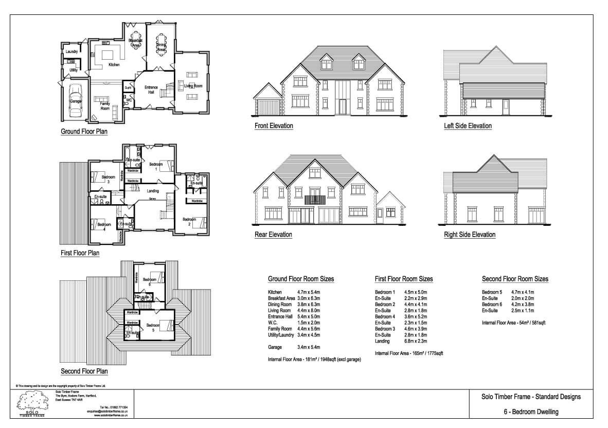 Ghylls Lap 6 Bedroom House Design Designs Solo Timber