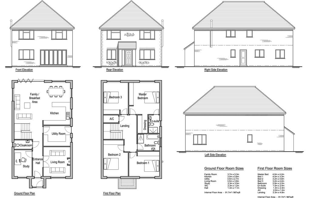 Hollies 4 Bedroom House Design Designs Solo Timber Frame
