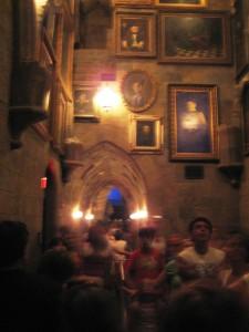Inside Hogwarts Waiting for Harry Potter Forbidden Journey Ride