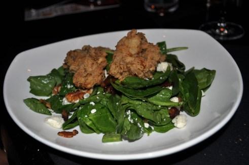 Fried Oyster Salad, Michael's on East, Sarasota, Fla.