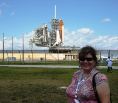 Me in Front of Space Shuttle Endeavour During Retraction of RSS