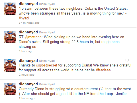 Tweets from Diana Nyad's Account @diananyad