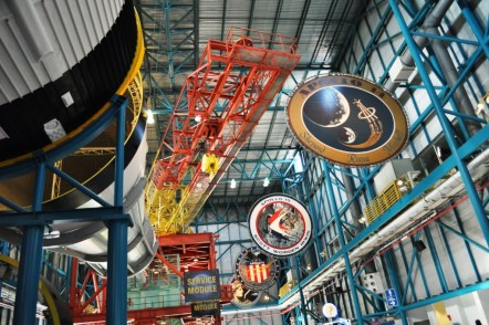 Wowed Inside Saturn V Building, Kennedy Space Center, Florida