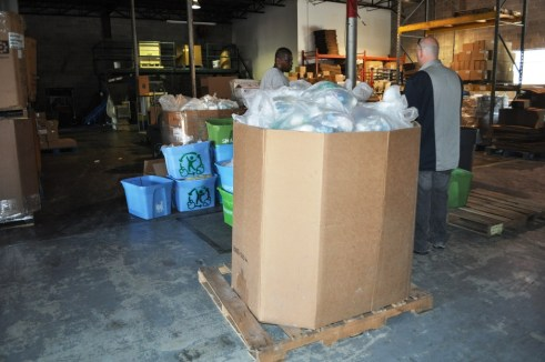 Used Hotel Soap and Shampoo Arrives from Various Orlando Hotels for Porcessing at Clean the World