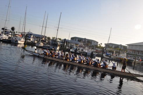 Members of the Charlotte Harbor Paddlers Get their Practice On Before the Punta Gorda Dragon Boat Festival Scheduled for April 14, 2012