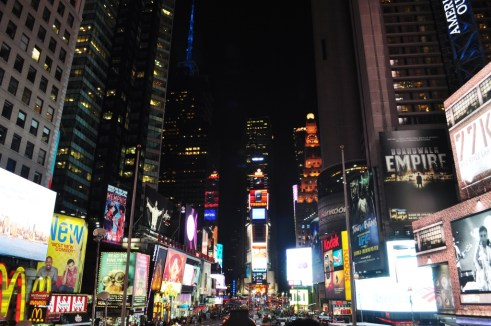 Times Square at Night, New York City, NY, April 2012