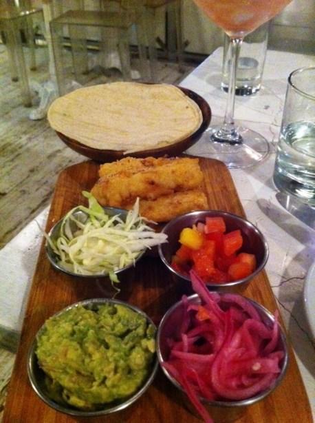Fish Tacos at Wish in Toronto