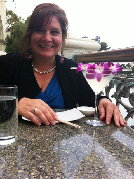 I Fixed Up My Traveler's Nails Before Dinner at Yellowtail Sushi at the Bellagio in Las Vegas Last Month