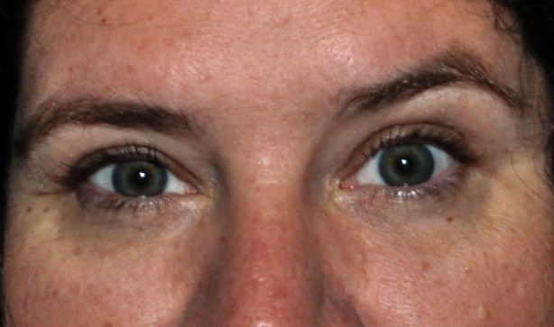 Never Realized How Different My Eyes are from Each Other, End of Week 7 Using Fysiko Eyelash Growth Serum, June 30, 2013