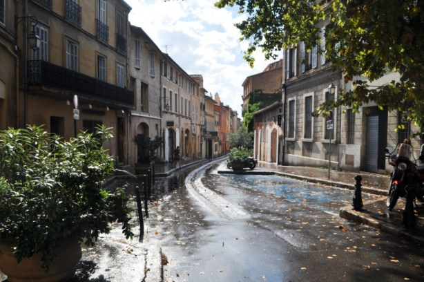 An Aix Street Following the Rain. Everything's Prettier Following Rain, Don't You Agree?