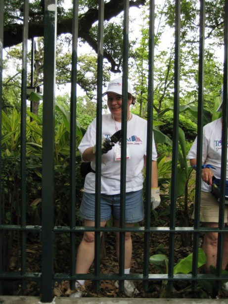 That's Me in 2008 Pitching in at Louis Armstrong Park in New Orleans during the Tourism Cares Project