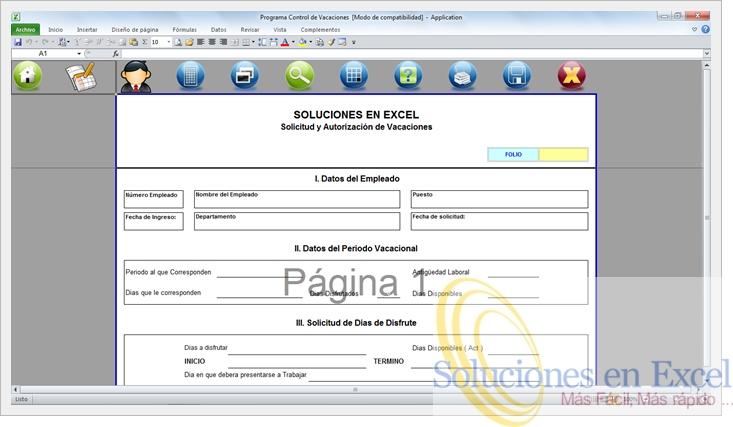 Programa Control De Vacaciones En Excel Superfacil ¡¡ $ 1990 - formatos de excel gratis
