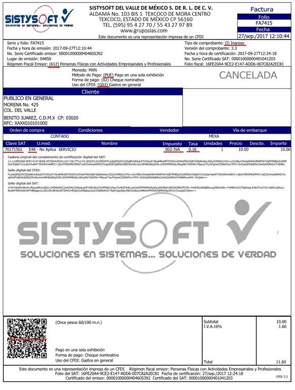 Formato de Factura 33 para Ventas Microsip - Soluciones
