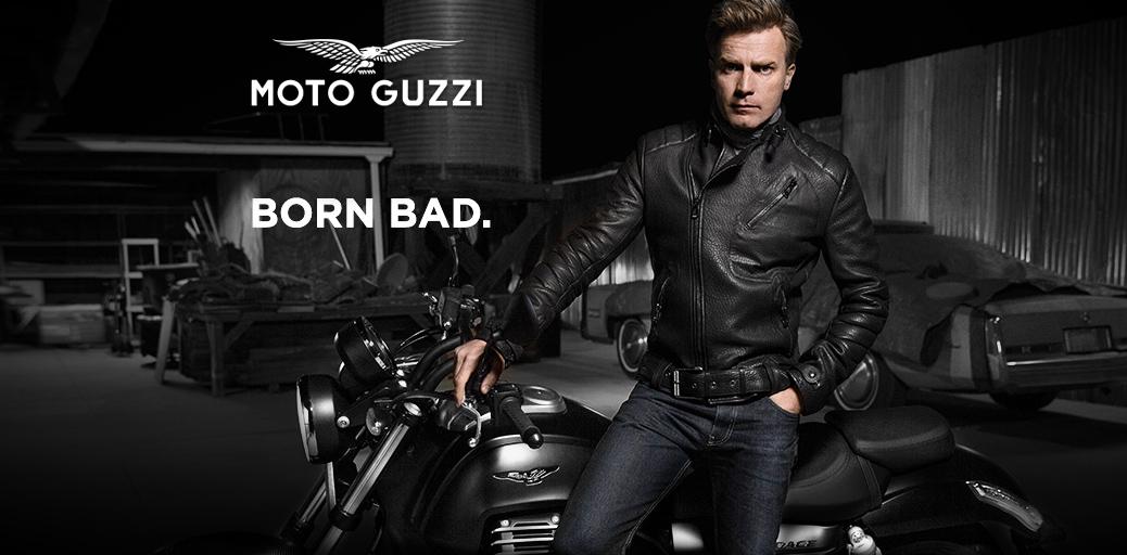 Ewan Mcgregor et MotoGuzzi Audace Born Bad