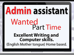 Part Time Writing Assistant Wanted!! Payment Involved