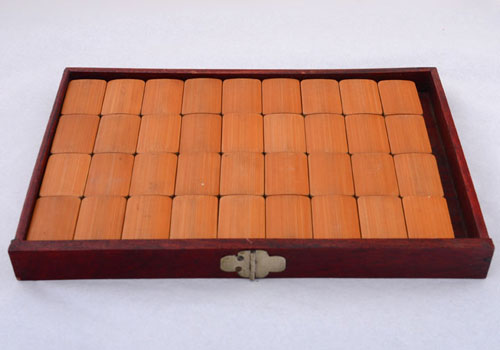 Chinese Mahjong Set With Rosewood Case - Solvang Antiques