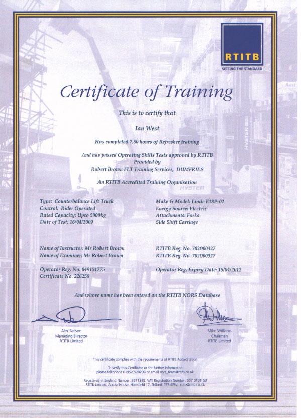 Forklift Certification Uk Choice Image - creative certificate design