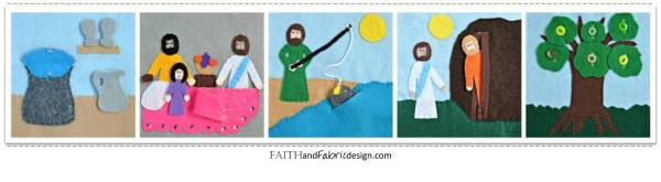 Felt Bible Activity Book for Quiet Time - Miracles of Jesus