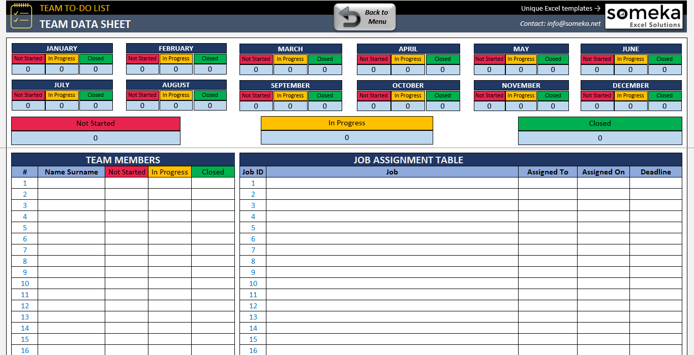 template to do list excel