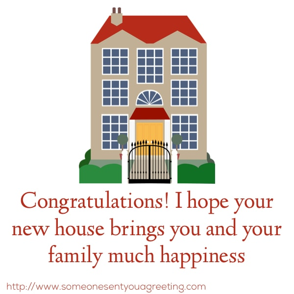Housewarming Wishes and Quotes for a Congratulations Card - Someone