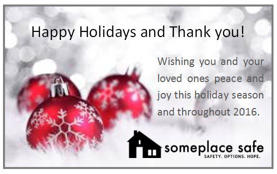 Thank You For Your Generosity This Holiday Season Someplace Safe